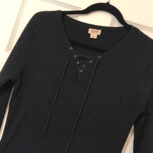 Target Lace Up Sweater Top